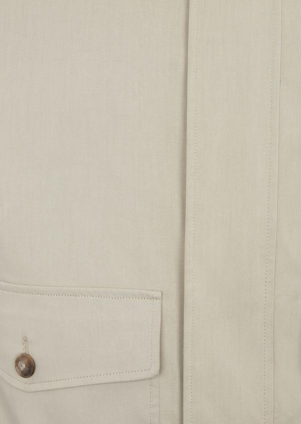 Blouson en coton mélangé uni beige - Father and Sons 38535
