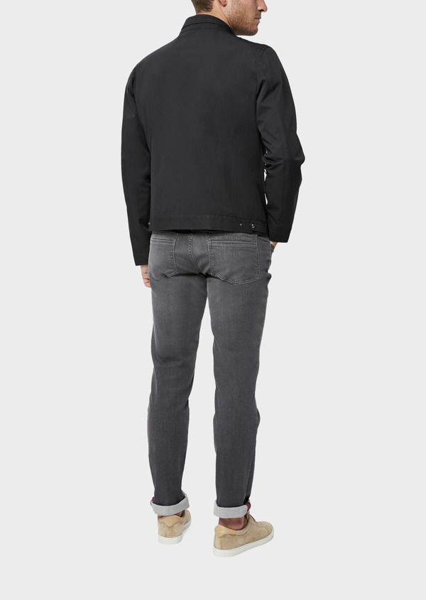 Blouson uni gris anthracite - Father and Sons 38549