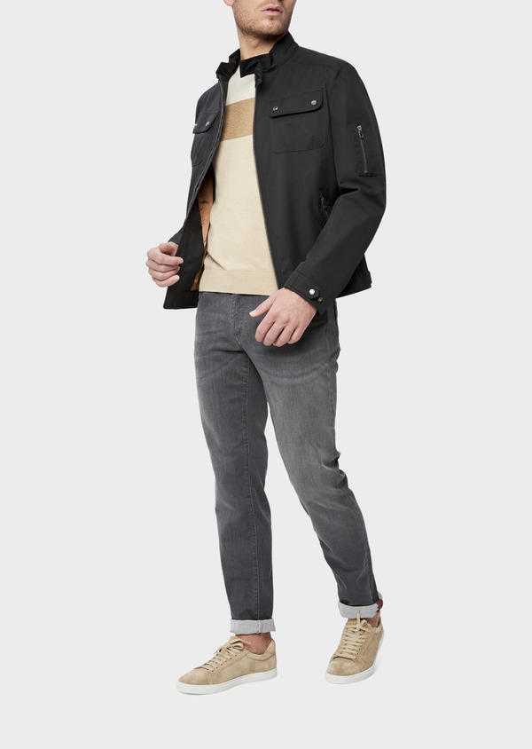 Blouson uni gris anthracite - Father and Sons 38548