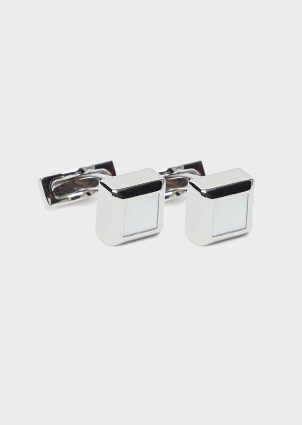 Boutons de manchettes carrés blancs - Father and Sons 37865