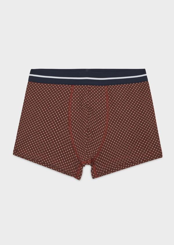Boxer en coton stretch bordeaux à motif fantaisie - Father and Sons 36894
