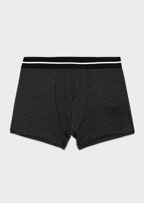 Boxer en coton stretch noir à pois - Father and Sons 36890