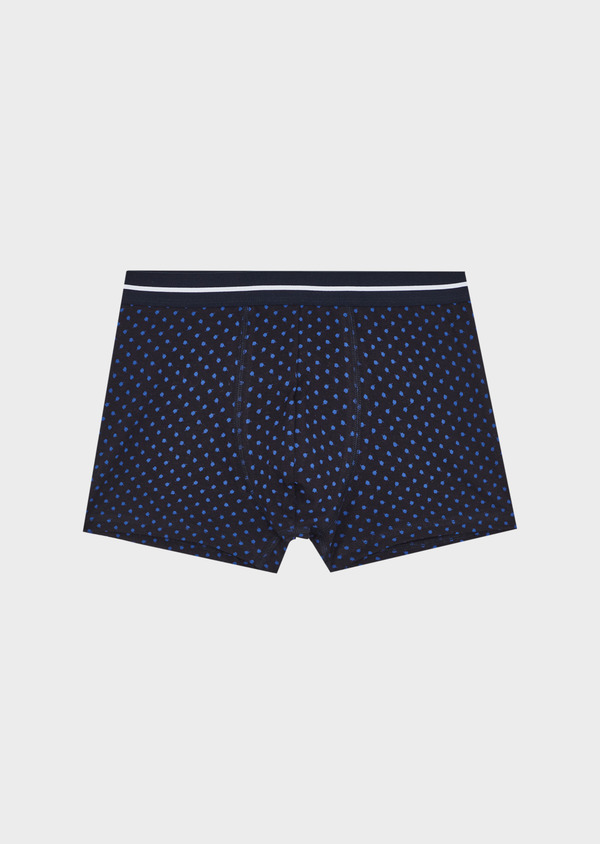 Boxer en coton stretch à motif fantaisie bleu - Father and Sons 40489