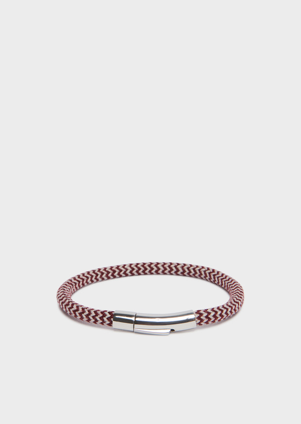 Bracelet à motif chevron rouge foncé - Father and Sons 31906