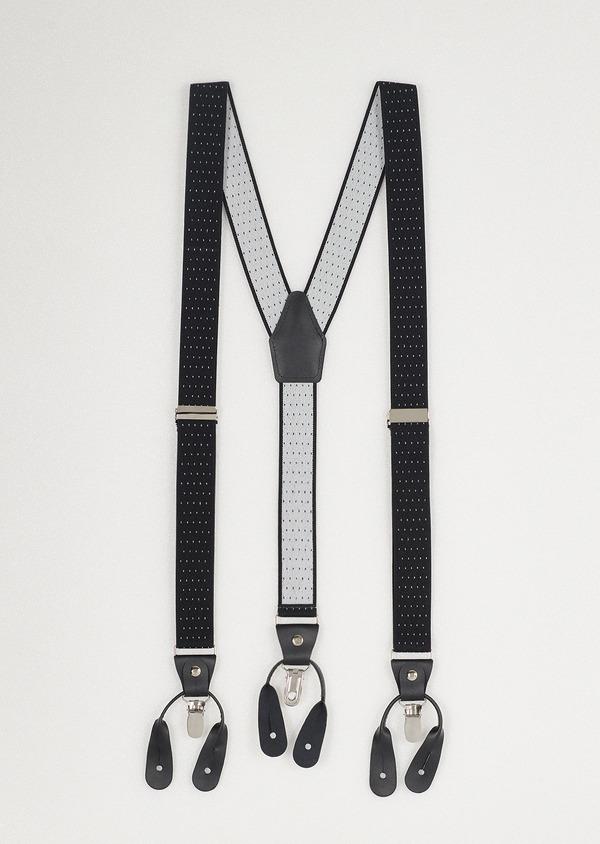 Bretelles fines noires à pois blancs - Father and Sons 18127