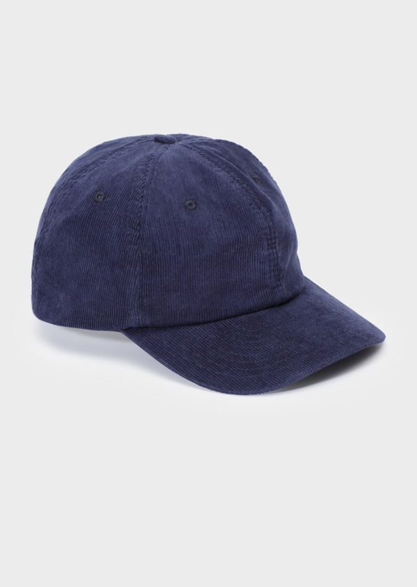 Casquette en velours côtelé bleu marine - Father and Sons 34754