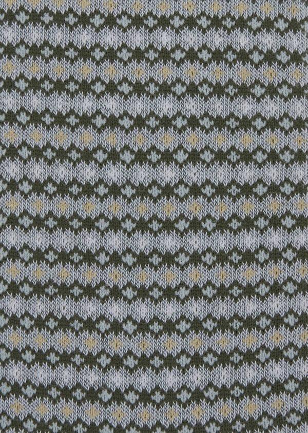 Chaussettes en coton melangé bleu chambray à motif fantaisie - Father and Sons 37702