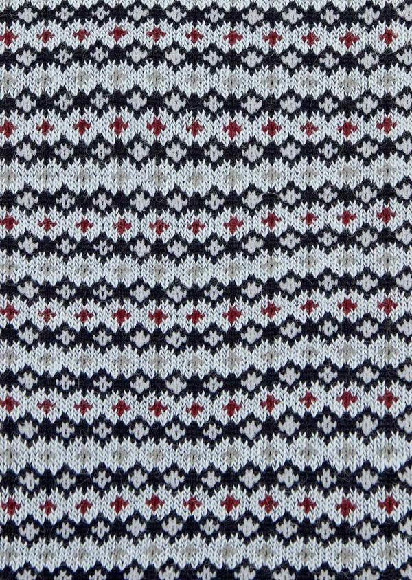 Chaussettes en coton melangé bleu ciel à motif fantaisie - Father and Sons 39459