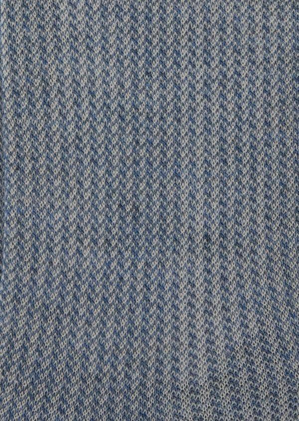 Chaussettes en coton melangé bleu à motif fantaisie - Father and Sons 37728