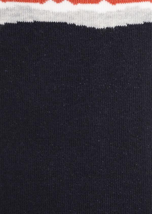 Chaussettes en coton mélangé bleu nuit à motifs montagnes - Father and Sons 35597