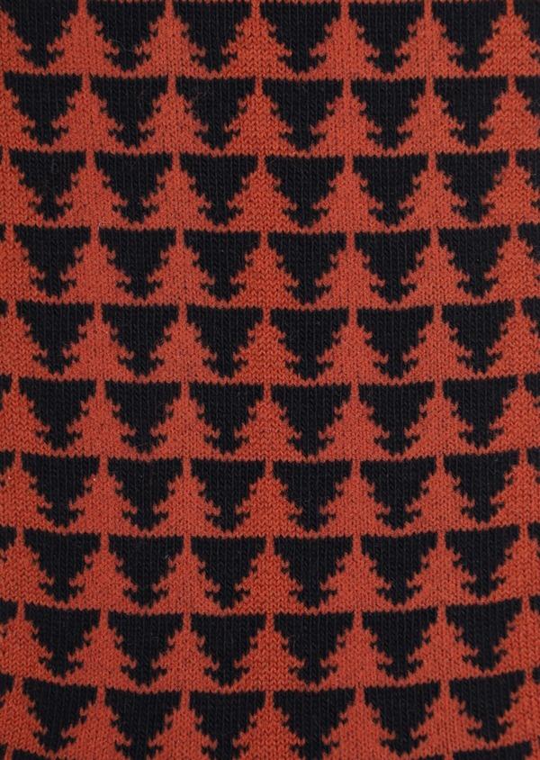 Chaussettes en coton mélangé bleu nuit à motifs sapins - Father and Sons 35601