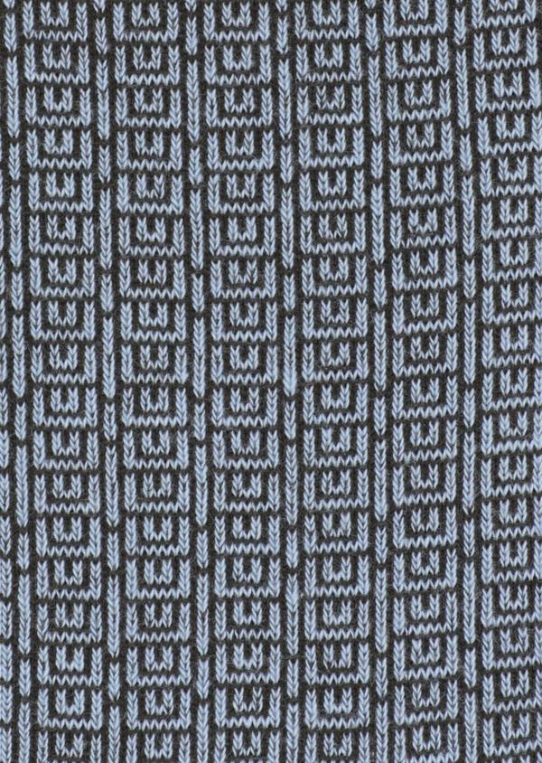 Chaussettes en coton mélangé bleu ciel à motifs géométriques vert kaki - Father and Sons 34810