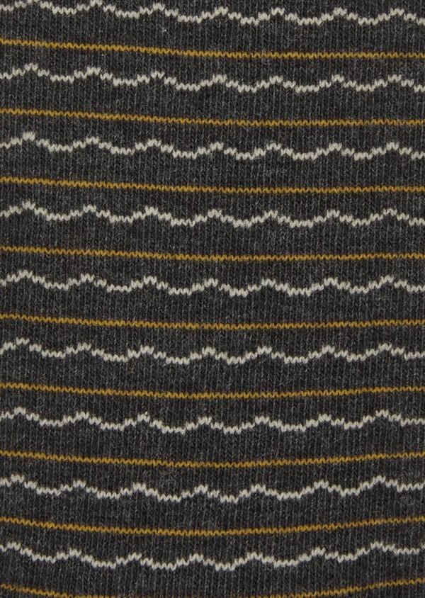 Chaussettes en coton melangé gris foncé à motif fantaisie - Father and Sons 37710