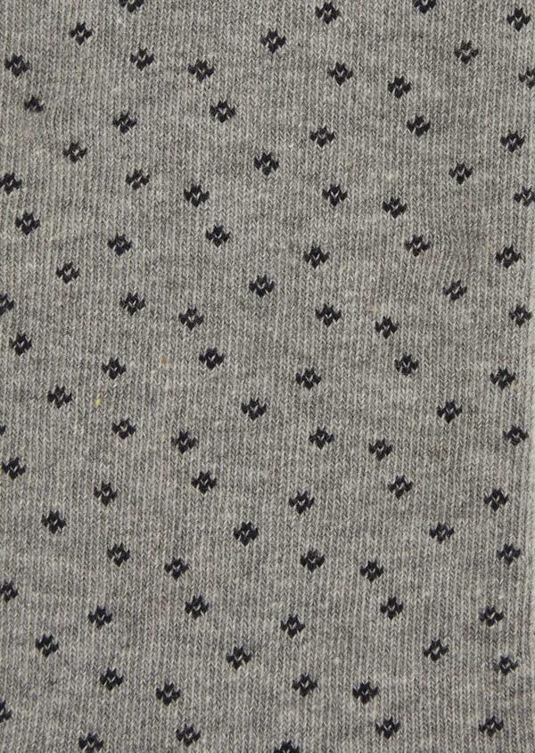 Chaussettes en coton melangé gris à motifs noirs - Father and Sons 37716