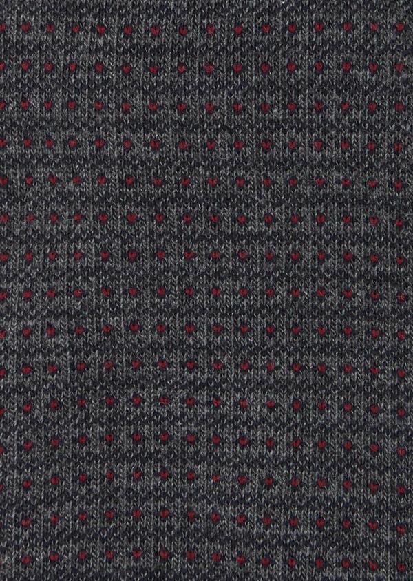 Chaussettes en coton mélangé gris à motif fantaisie bordeaux et marine - Father and Sons 40780
