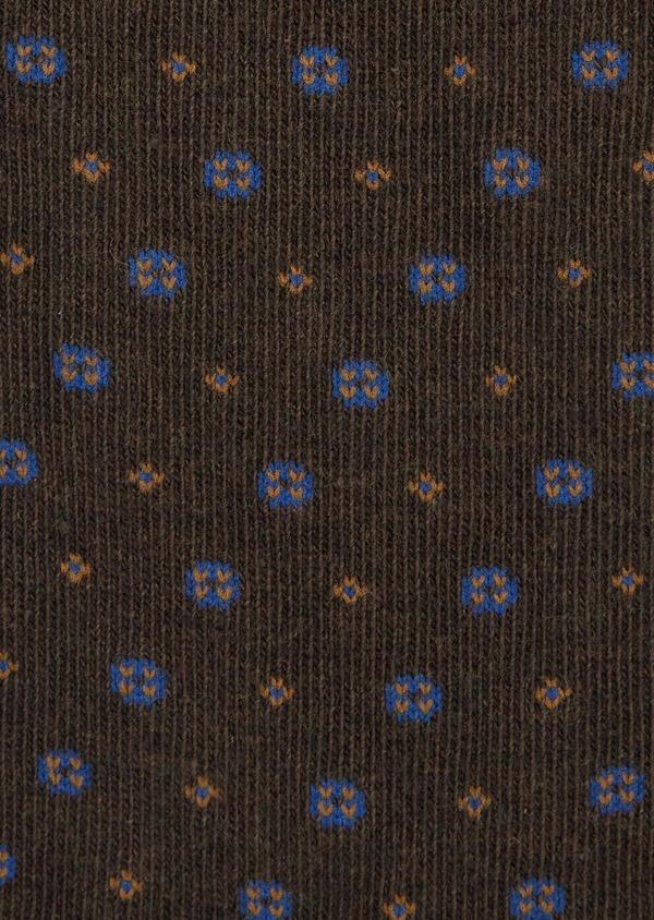Chaussettes en coton melangé marron à motif fantaisie - Father and Sons 39453