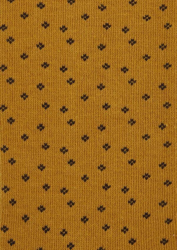 Chaussettes en coton melangé marron à motifs noirs - Father and Sons 37712