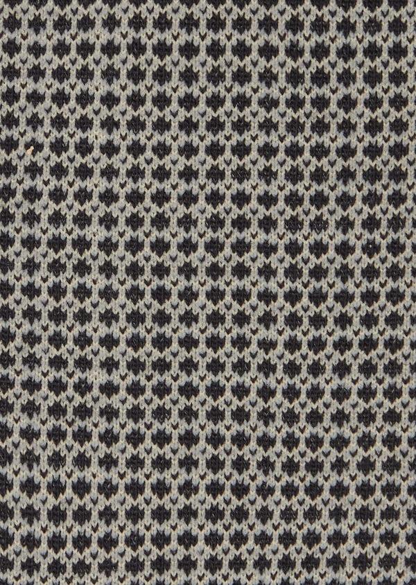 Chaussettes en coton mélangé noir à motif fantaisie camel et gris - Father and Sons 40756