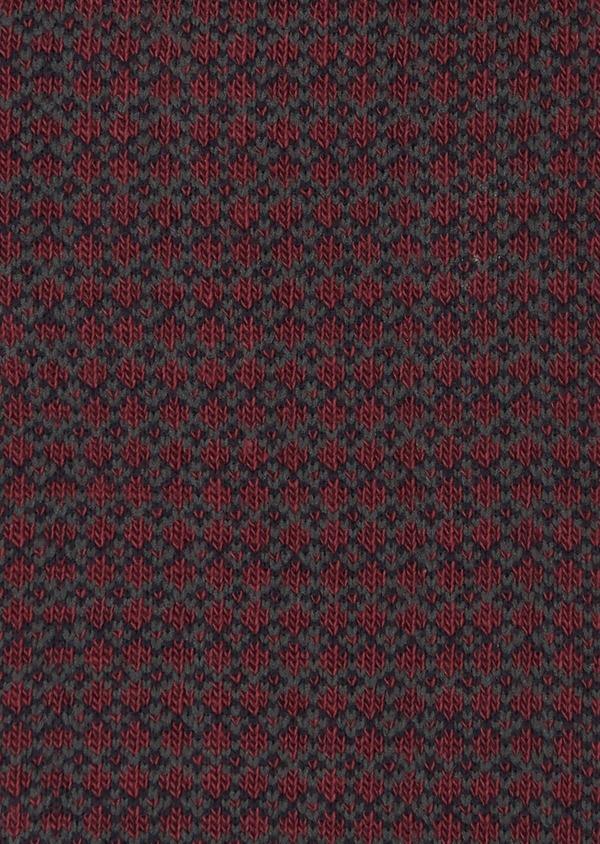 Chaussettes en coton mélangé bordeaux à motif fantaisie marine et gris - Father and Sons 40772