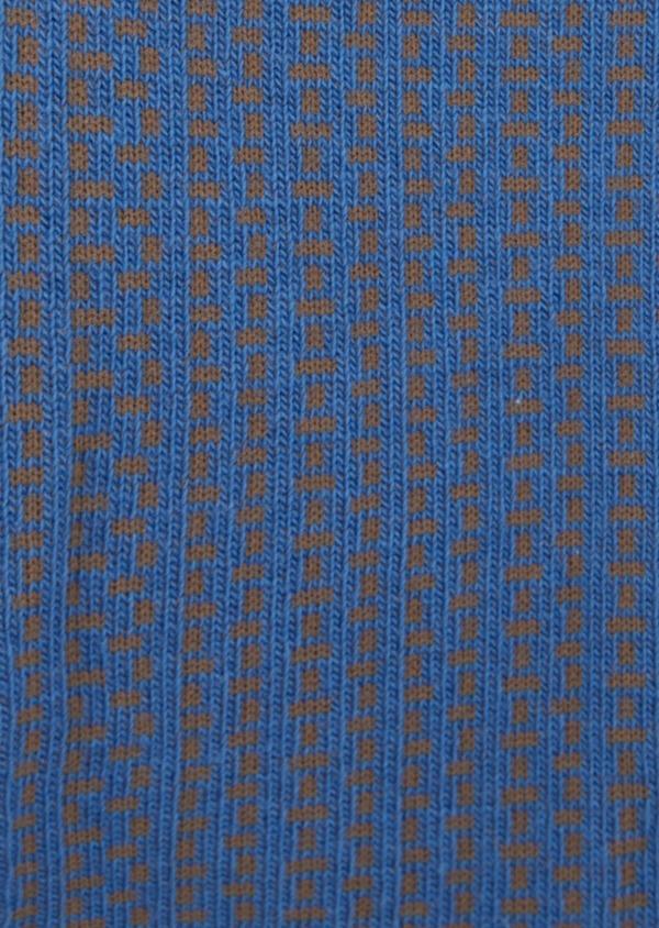 Chaussettes en coton melangé bleu à motifs géométriques - Father and Sons 39455