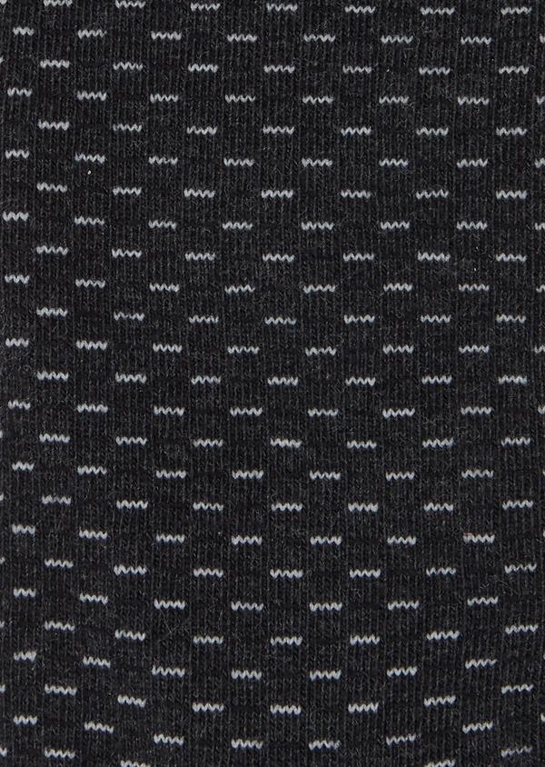 Chaussettes en coton mélangé gris anthracite à motifs géométriques noir et gris clair - Father and Sons 40760
