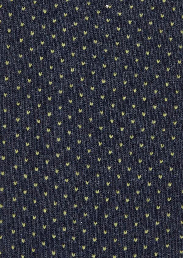 Chaussettes en coton melangé bleu à pois blancs - Father and Sons 37722