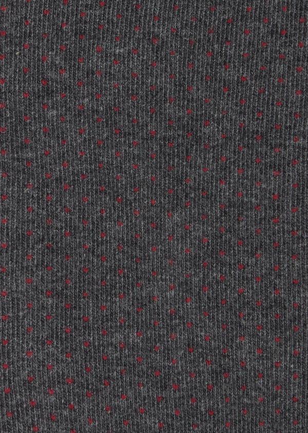 Chaussettes en coton mélangé gris à pois bordeaux - Father and Sons 40776