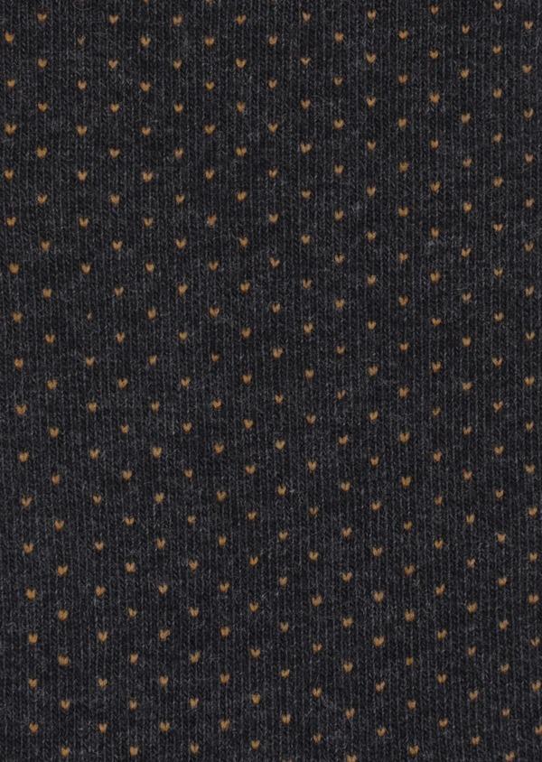 Chaussettes en coton mélangé gris à pois orange - Father and Sons 35589