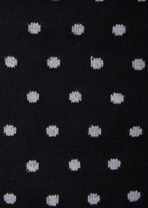 Chaussettes en coton mélangé noir à pois - Father and Sons 37629