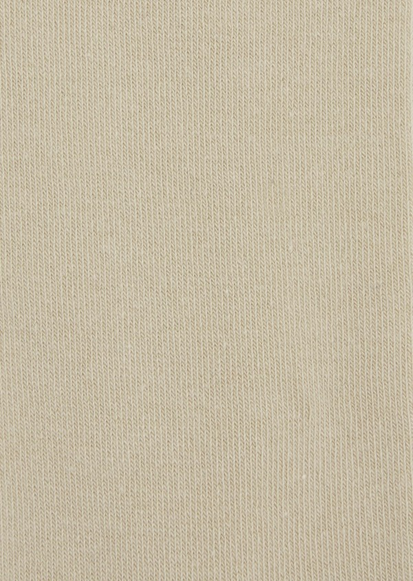Chaussettes en coton mélangé uni beige clair - Father and Sons 37682