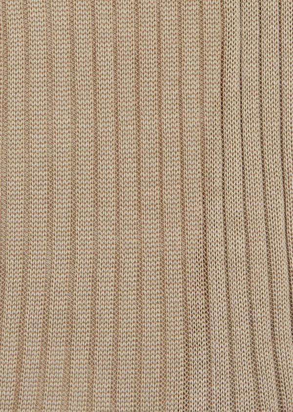 Chaussettes en coton fil d'Ecosse uni beige - Father and Sons 37734