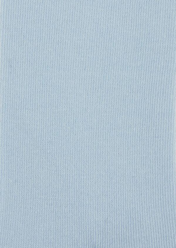 Chaussettes en coton mélangé uni bleu ciel - Father and Sons 37674
