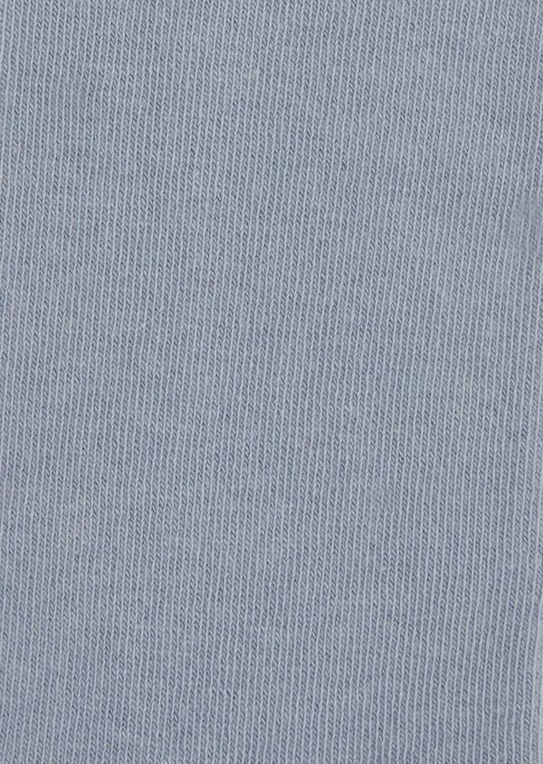 Chaussettes en coton mélangé uni bleu chambray - Father and Sons 37676