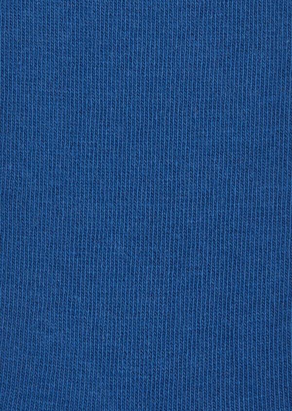 Chaussettes en coton mélangé uni bleu - Father and Sons 37684