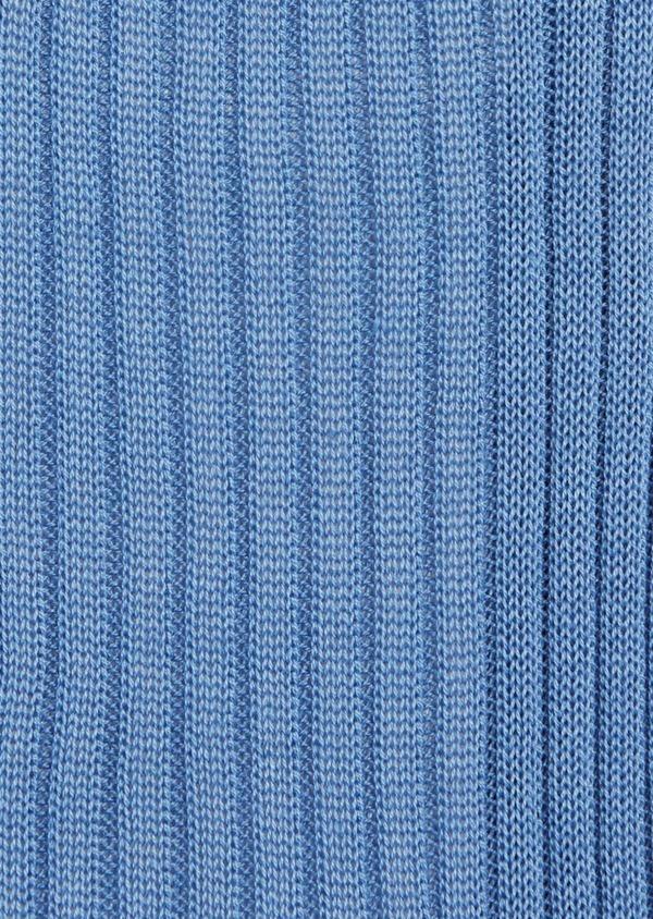 Chaussettes en coton fil d'Ecosse uni bleu - Father and Sons 37742