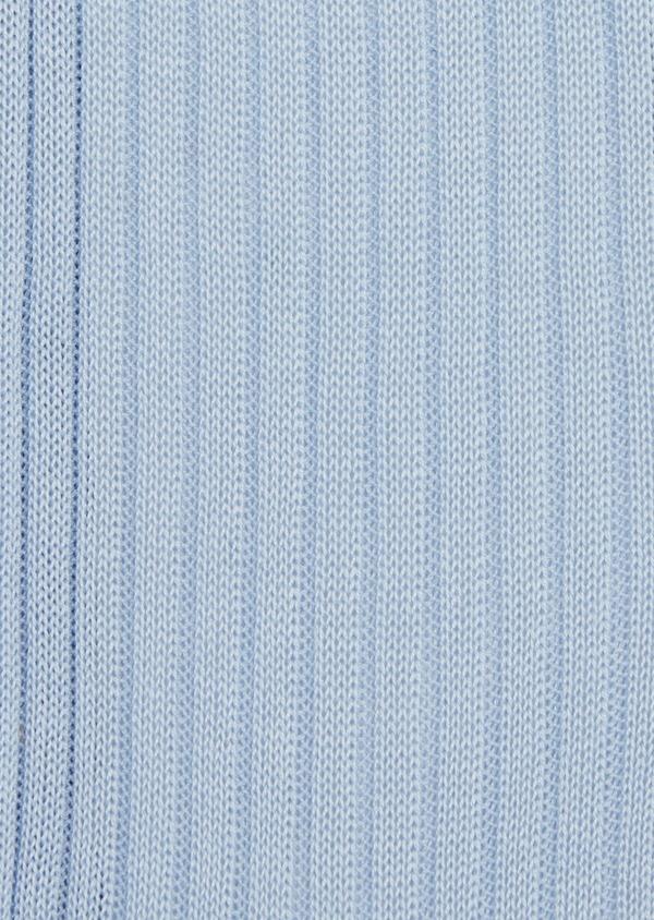 Chaussettes en coton fil d'Ecosse uni bleu clair - Father and Sons 37746