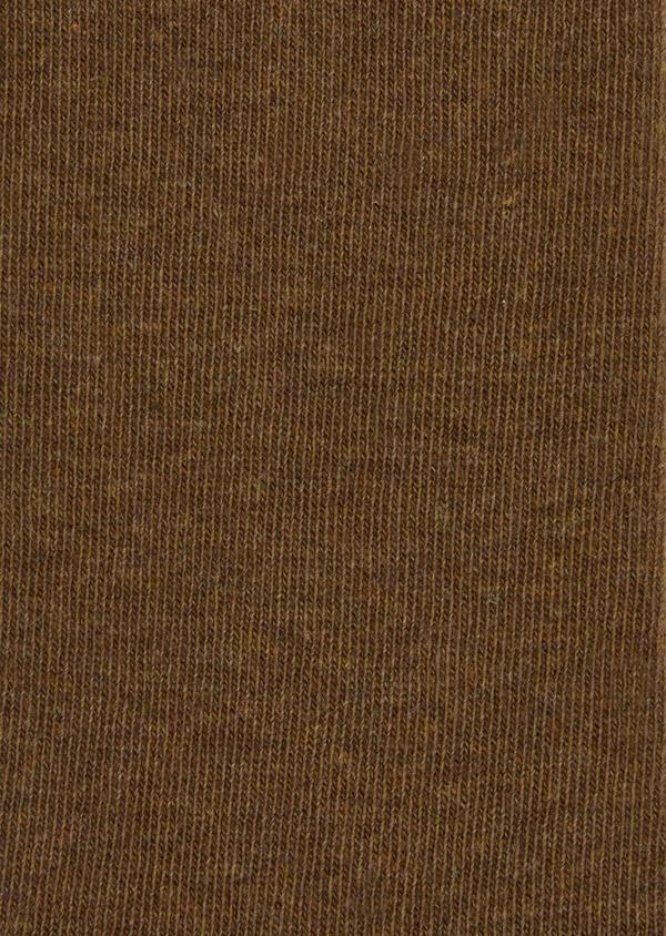 Chaussettes en coton mélangé uni marron foncé - Father and Sons 37686