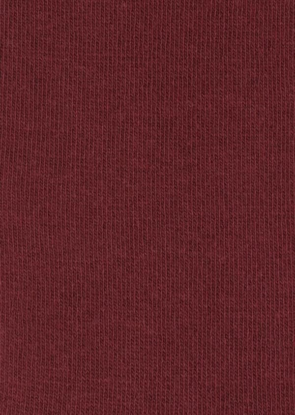 Chaussettes en coton mélangé uni bordeaux - Father and Sons 34794