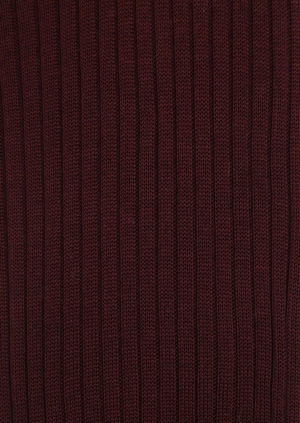 Chaussettes en coton fil d'Ecosse uni bordeaux - Father and Sons 36538
