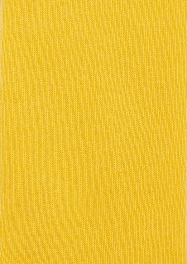 Chaussettes en coton mélangé uni jaune - Father and Sons 37688