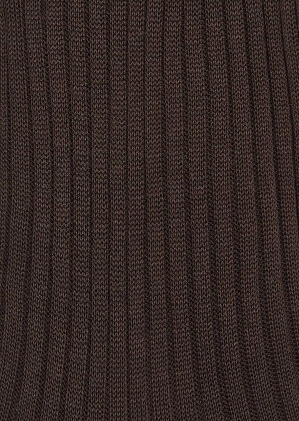 Chaussettes en coton fil d'Ecosse uni marron - Father and Sons 37740