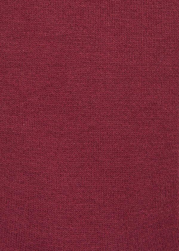 Chaussettes en coton mélangé uni bordeaux - Father and Sons 37670