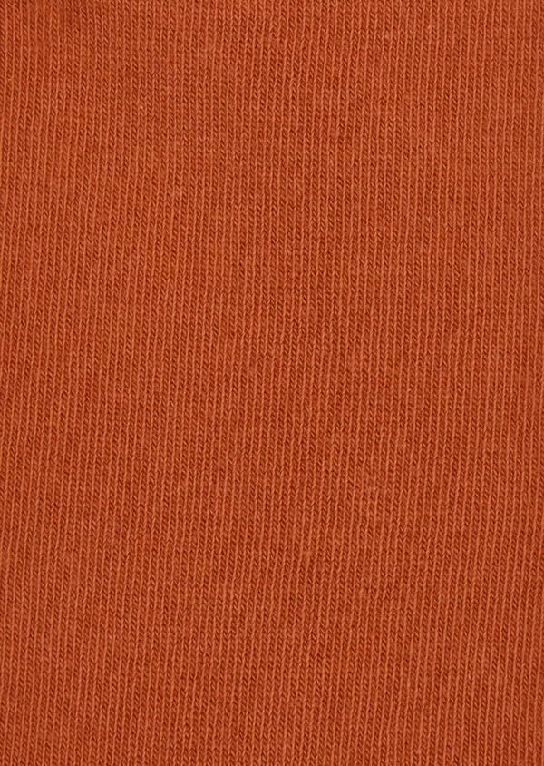 Chaussettes en coton mélangé uni orange foncé - Father and Sons 37680