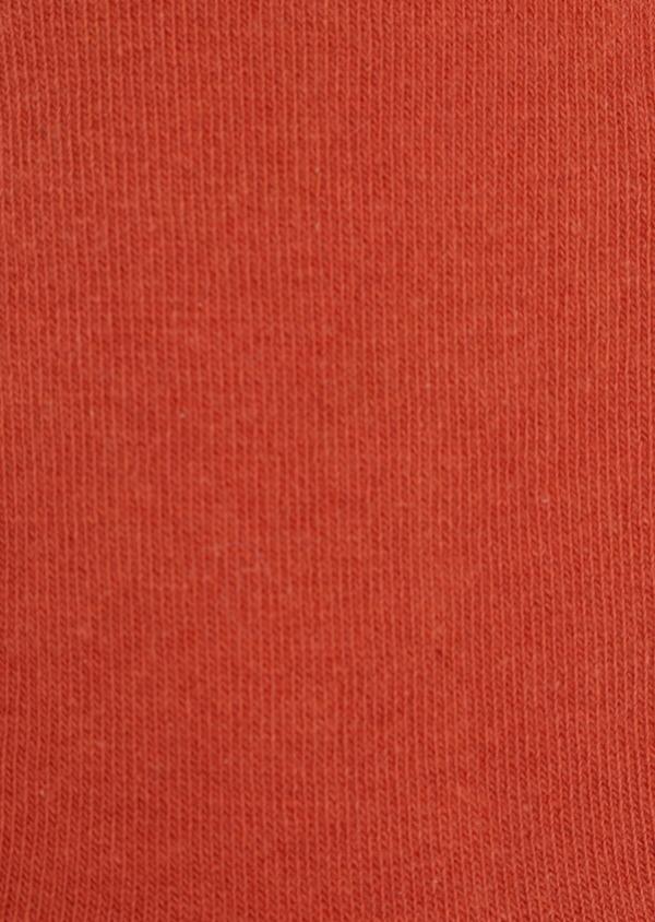 Chaussettes en coton mélangé uni orange - Father and Sons 35593