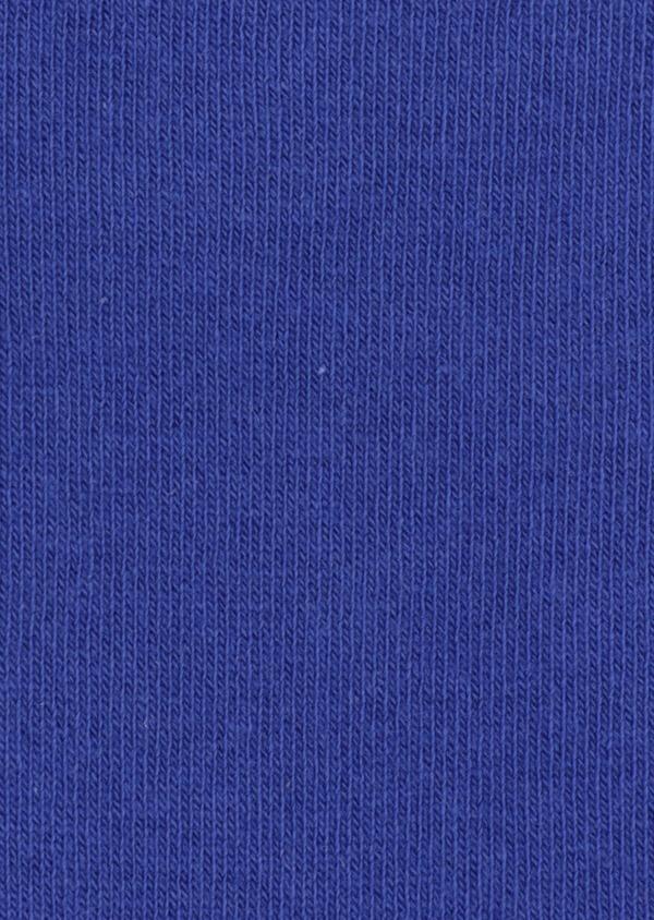 Chaussettes en coton mélangé uni bleu saphir - Father and Sons 34808