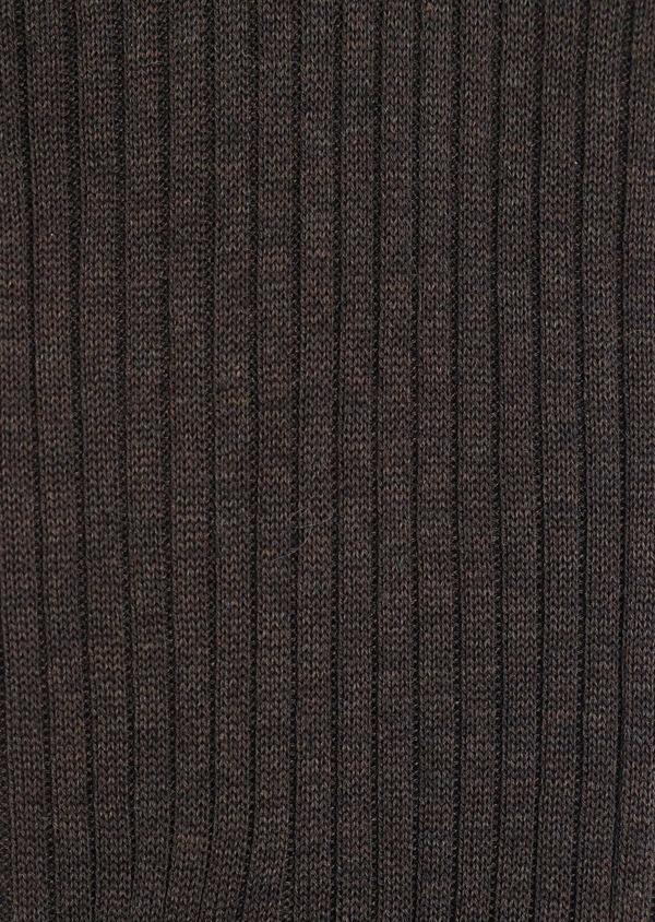 Chaussettes en coton fil d'Ecosse uni taupe - Father and Sons 34828
