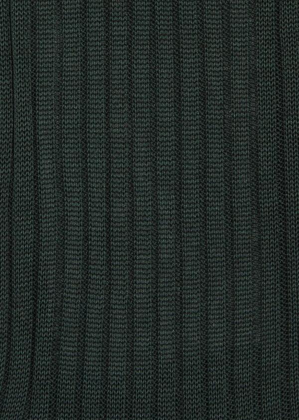 Chaussettes en coton fil d'Ecosse uni vert - Father and Sons 37744