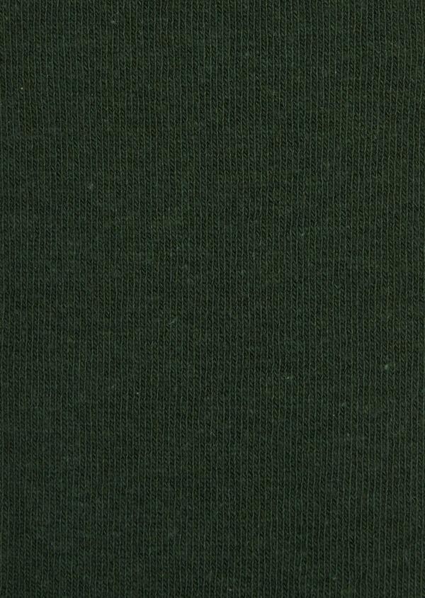 Chaussettes en coton mélangé uni vert - Father and Sons 36271