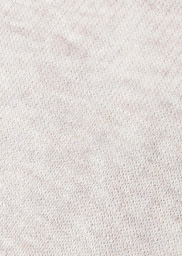 Chaussettes invisibles en coton mélangé uni beige - Father and Sons 35899