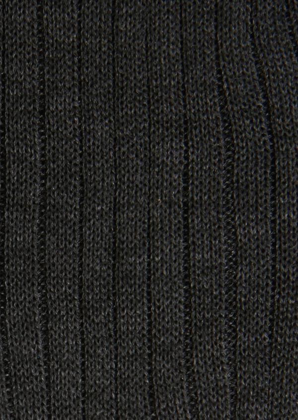 Chaussettes en coton fil d'Ecosse uni gris anthracite chiné - Father and Sons 18146